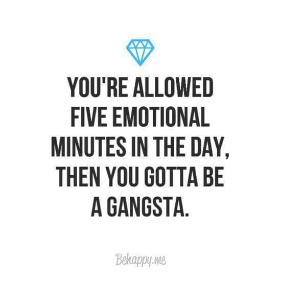 be gangsta